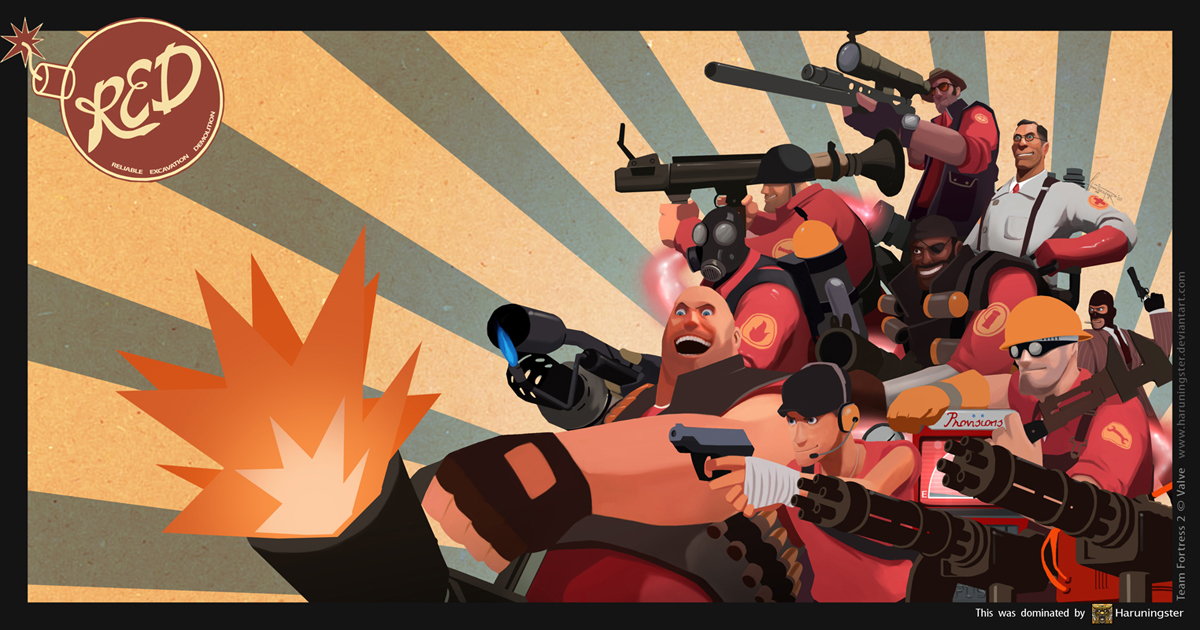 TEAM FORTRESS 2 : R.E.D
